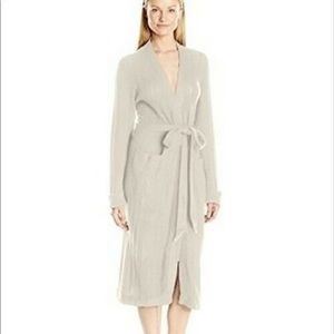 PRICE FIRM NEW $295 Eberjey Knit Long Robe Small